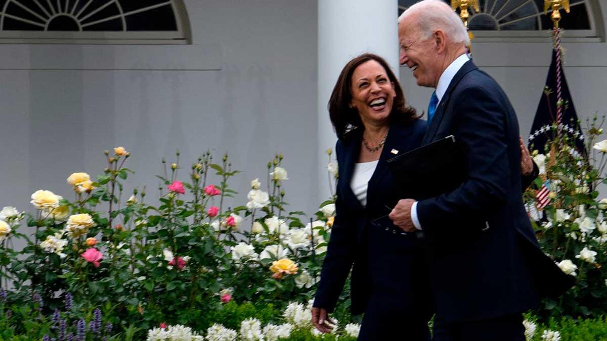 El presidente de EEUU, Joe Biden, y su vicepresidenta, Kamala Harris. Foto: AFP
