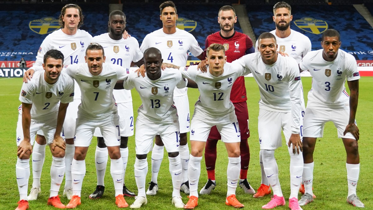 Los jugadores de Francia. (AFP)