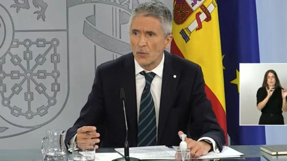 Marlaska en la rueda de prensa posterior al Consejo de Ministros