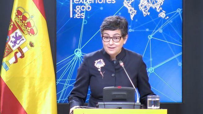 Arancha González Laya Marruecosen rueda de prensa