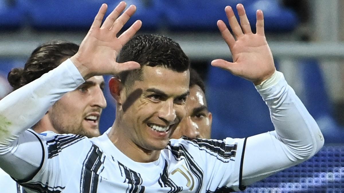 Cristiano Ronaldo celebra un gol con la Juventus (AFP).