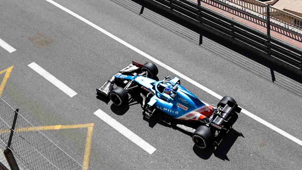 Fernando Alonso en el Gran Premio de Mónaco. (AFP)