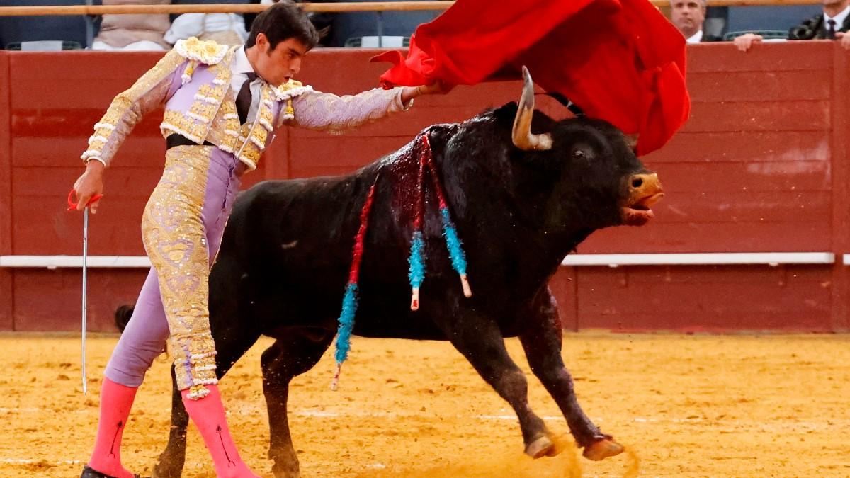 Miguel Ángel Perera en una de sus faenas (Foto: EFE).