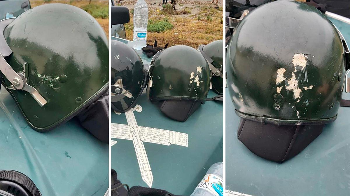 Los cacos apedreados de la Guardia Civil.