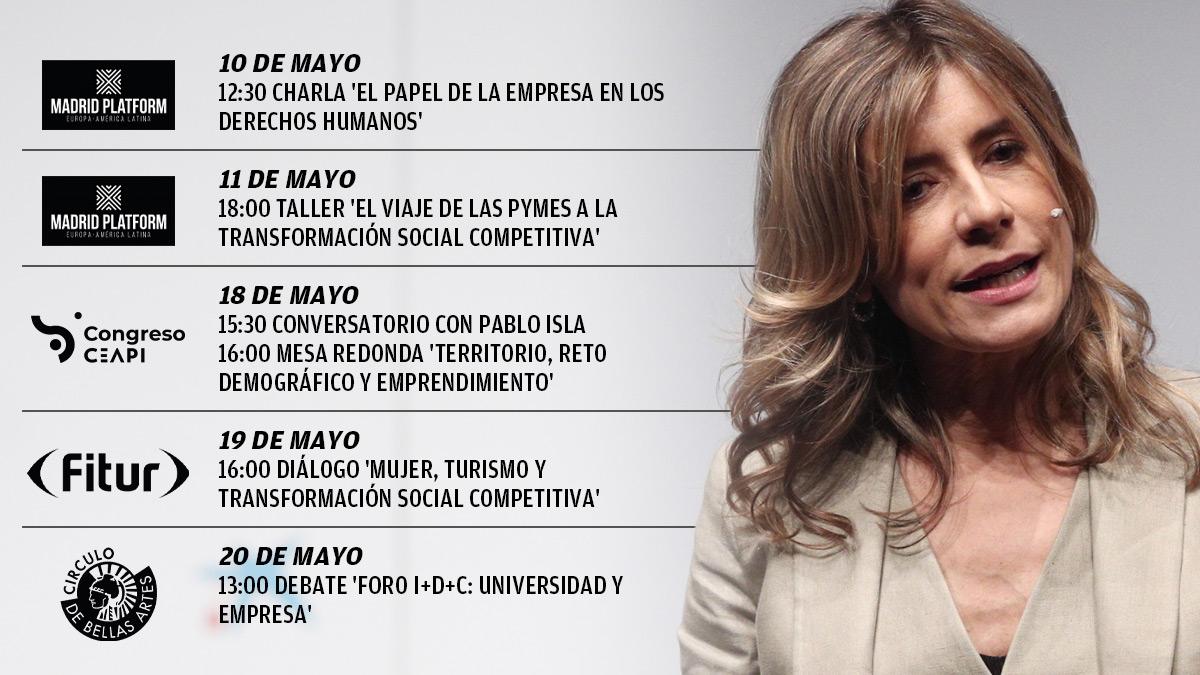 Agenda de Begoña Gómez en las últimas semanas.