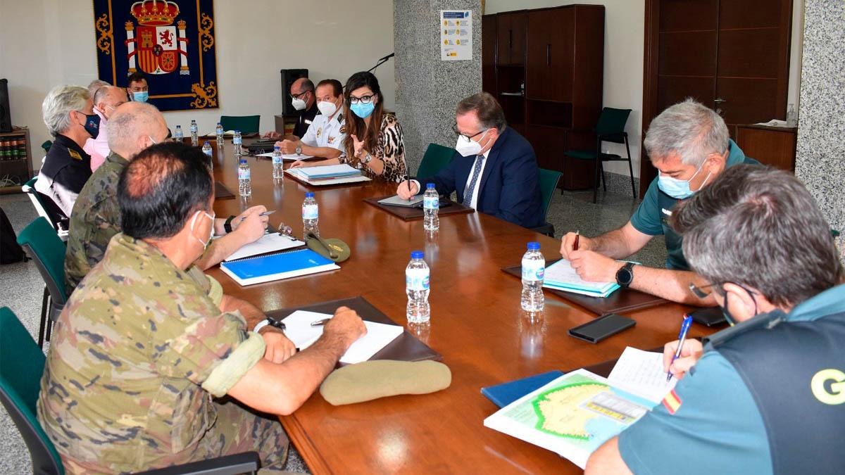 Reunión del Centro de Coordinación de Melilla.