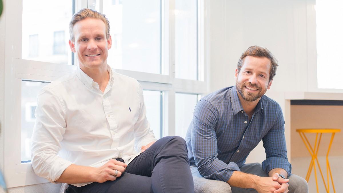 Same Kalli CEO de Kodit y Steven Aitkenhead CEO de Lucas
