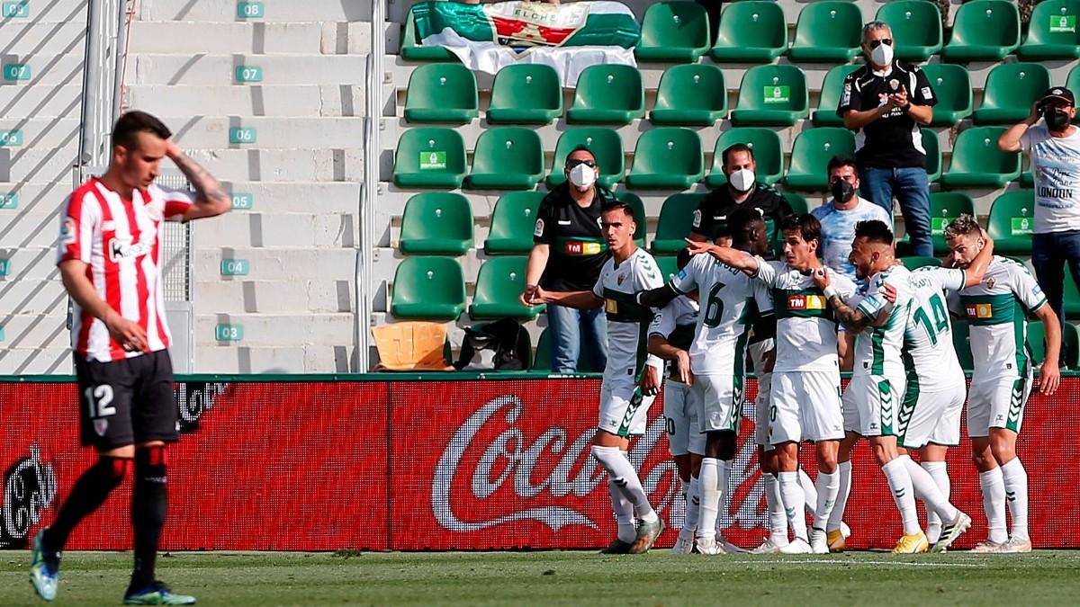 El Elche venció al Athletic Club en el Martínez Valero. (EFE)
