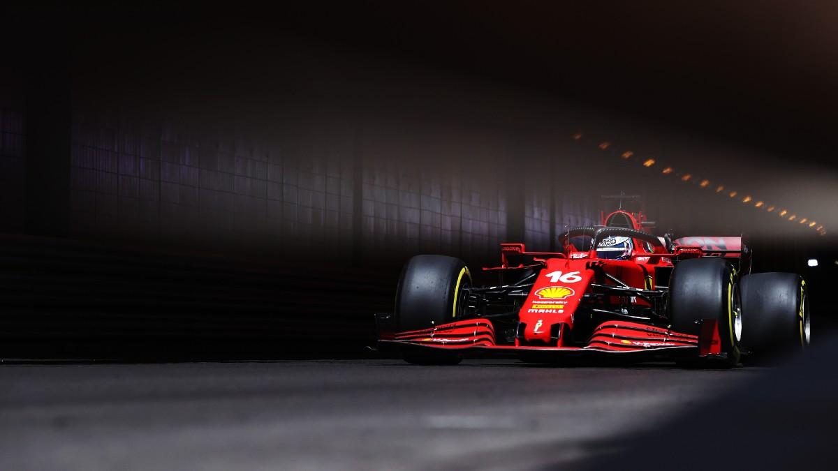 Charles Leclerc, en la clasificación del Gran Premio de Mónaco. (Getty)
