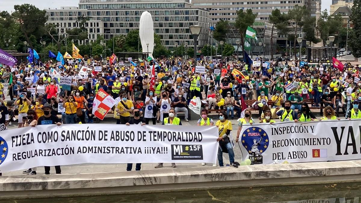 Manifestación de empleados públicos en Madrid.