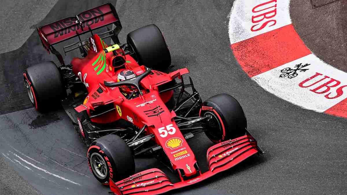 Carlos Sainz en el Gran Premio de Mónaco. (AFP)