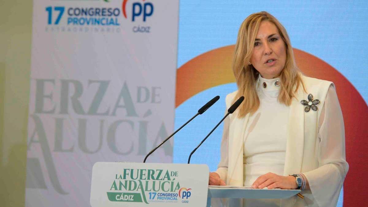 Ana Beltrán durante el Congreso Provincial de Cádiz.