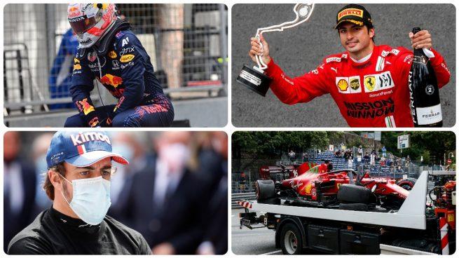 Verstappen, Sainz, Alonso y Leclerc