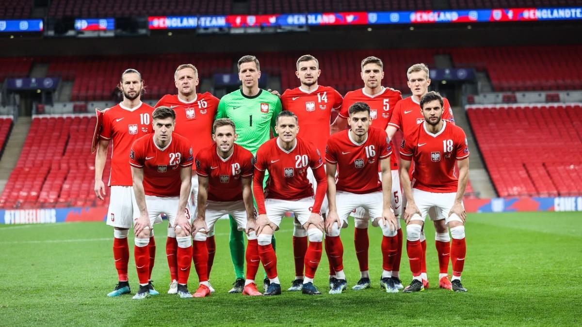 Los jugadores de la selección de Polonia.