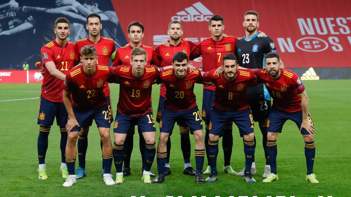 Alineación de la selección española. (Sefutbol)
