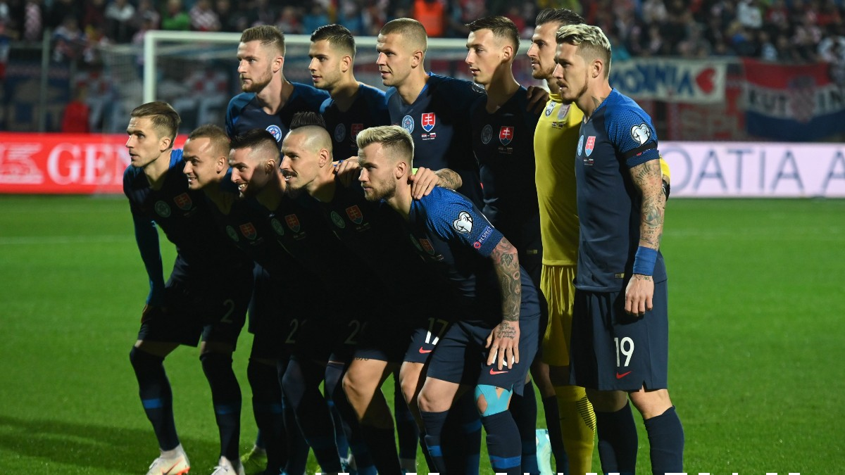 Los jugadores de Eslovaquia. (Getty)