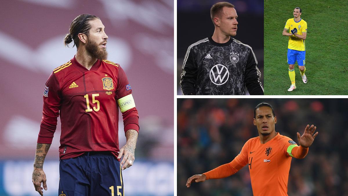 Ramos, Ter Stegen, Ibrahimovic y Van Dijk son algunas de las grandes ausencias de la Eurocopa (Getty)