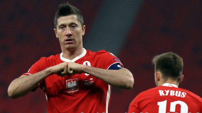Once oficial de Polonia contra España: Lewandowski lidera una alineación con tres cambios