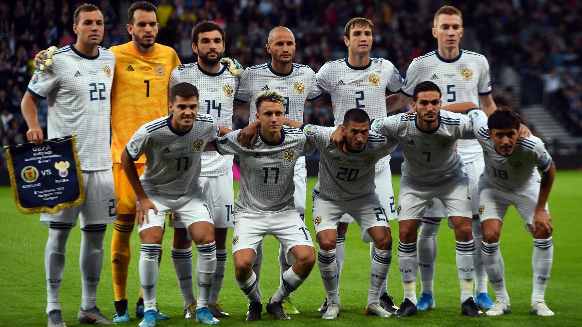 Los jugadores de Rusia antes de un partido. (AFP)