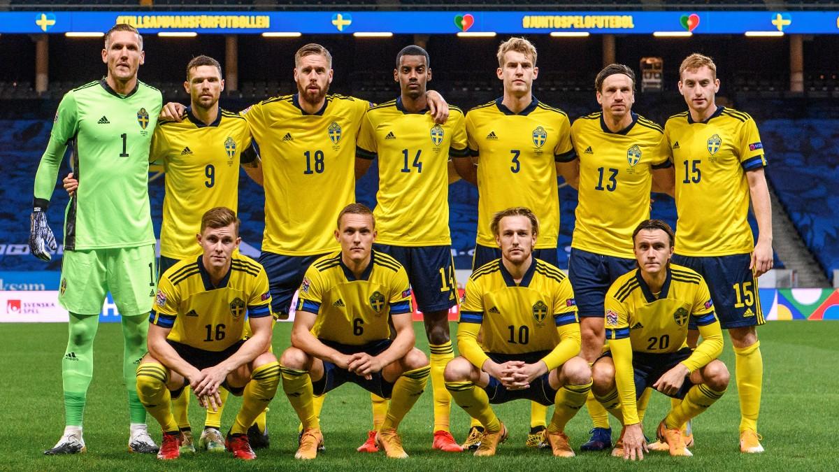 Los jugadores de la selección de Suecia. (AFP)