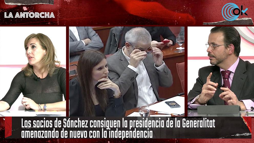 Patricia Rueda (Vox) y César Sinde en La Antorcha de OKDIARIO