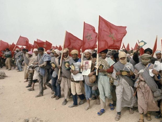 La Marcha Verde de los marroquíes.