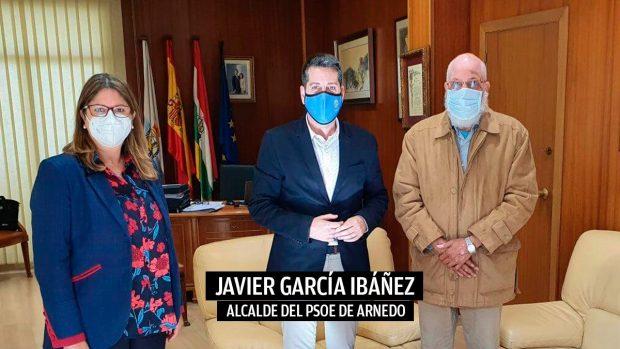Javier García, alcalde de Arnedo, y Abdalahe Hamad.