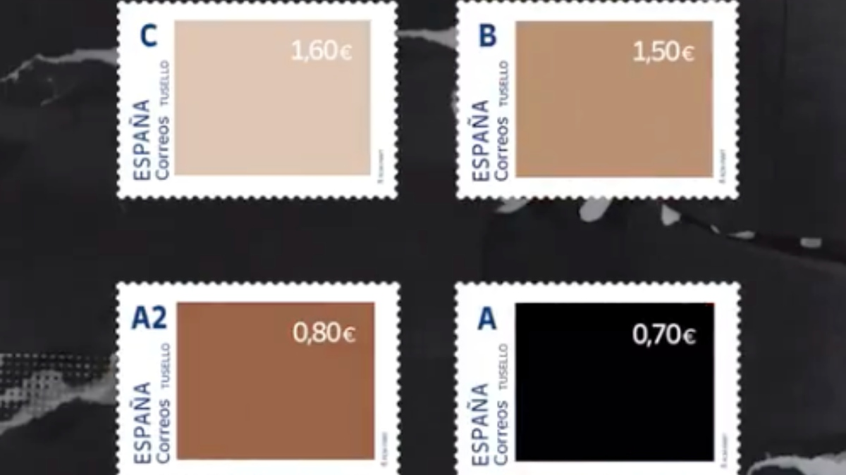 Los sellos contra el racismo de Correos.