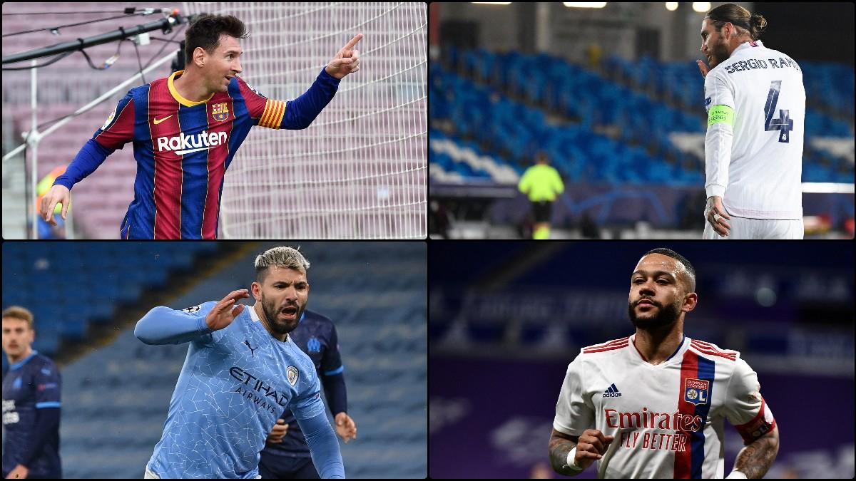 Messi, Ramos, Agüero y Depay.