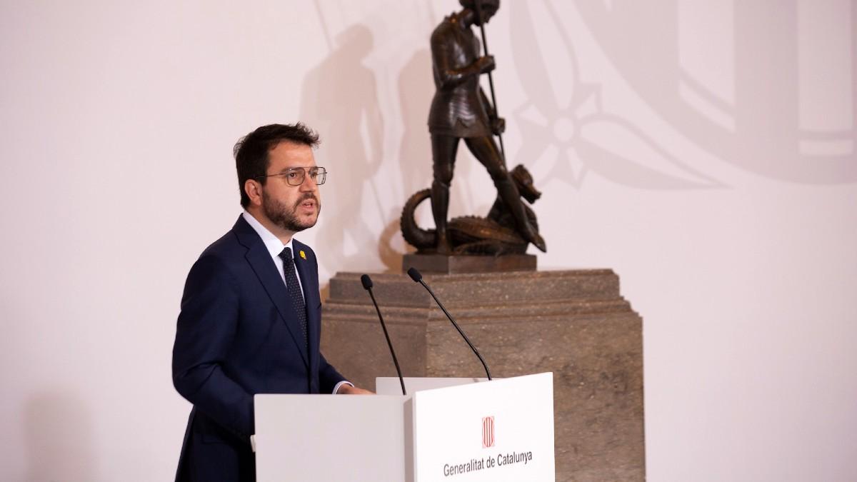 El presidente de la Generalitat, Pere Aragonès. (Foto: Europa Press)