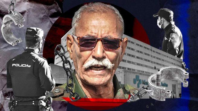 Brahim Ghali, líder del Frente Polisario, en el Hospital San Pedro de Logroño.