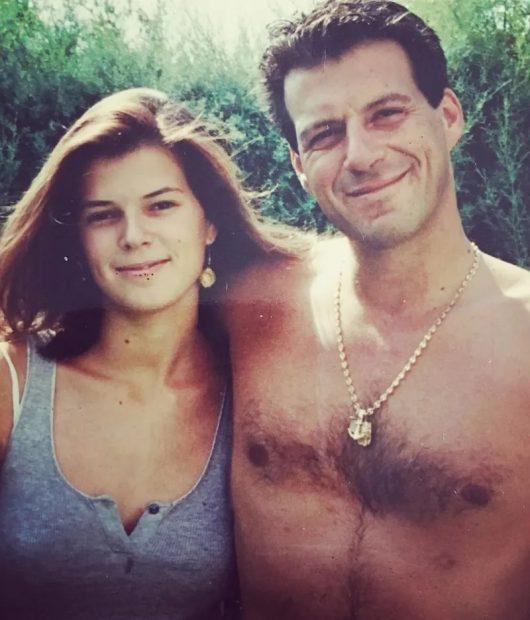 Lucía Dominguín con Alessandro Salvatore, su exmarido y padre de Bimba y Olfo Bosé