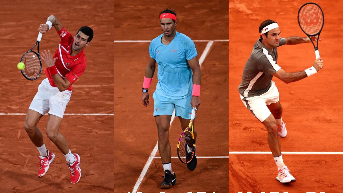 Djokovic, Nadal y Federer.