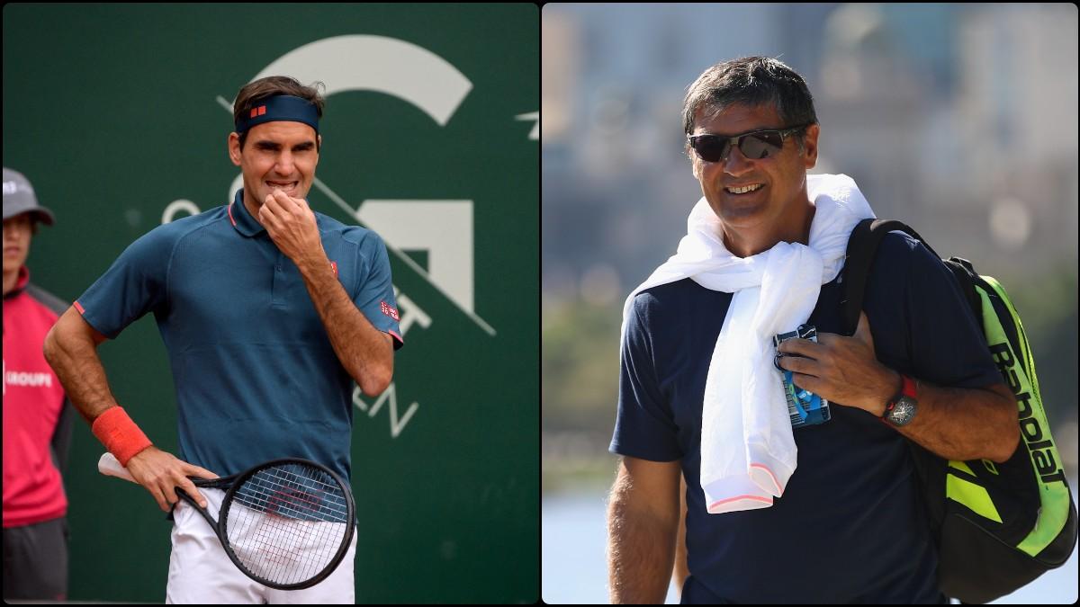 Roger Federer y Toni Nadal.