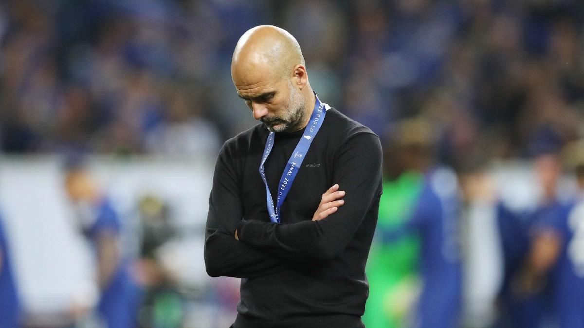 Pep Guardiola, después de perder la Champions ante el City. (Getty)