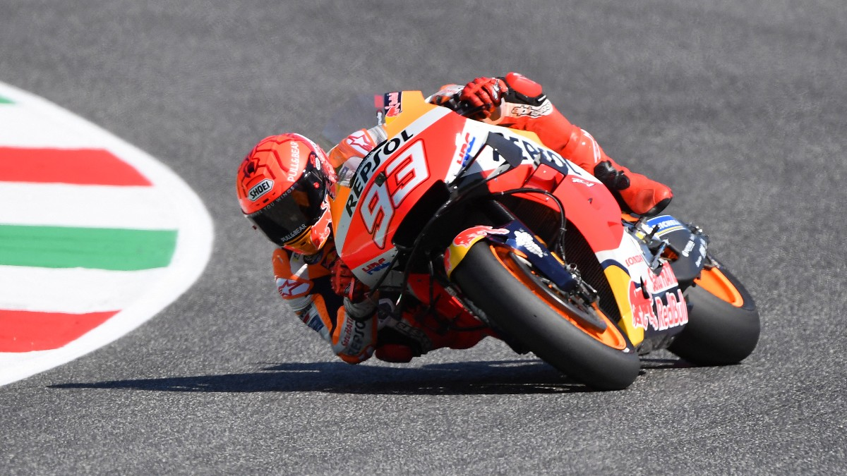 Marc Márquez durante el GP de Italia de MotoGP. (AFP)