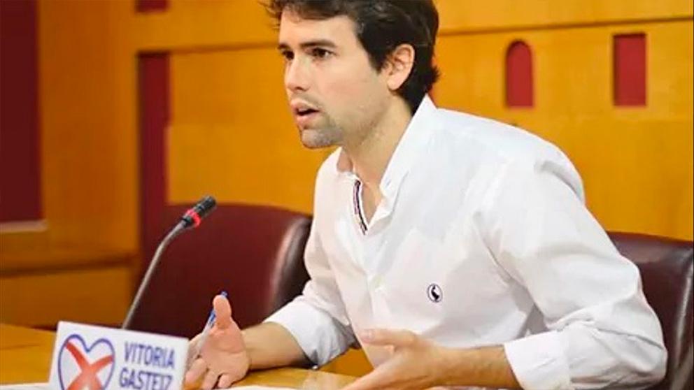 El líder del PP, Iñaki García Calvo.