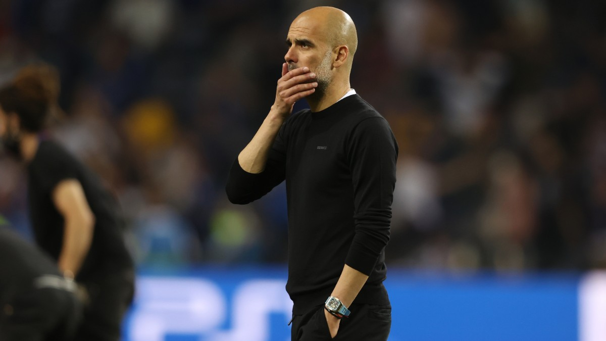 Pep Guardiola tras perder la final de la Champions. (Getty)