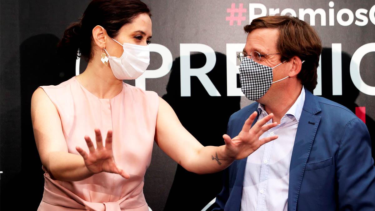 Isabel Díaz Ayuso y José Luis Martínez-Almeida en los Premios Cubí 2020.