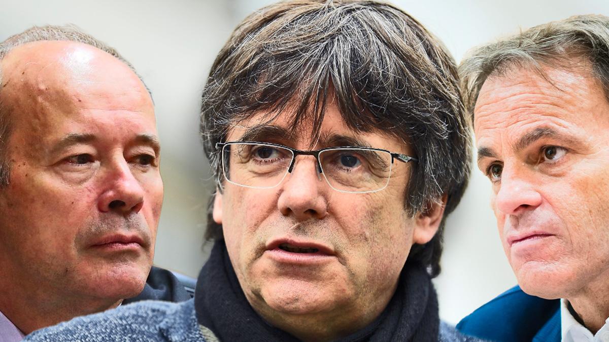 Juan Carlos Campo, Carles Puigdemont y Jaume Asens.