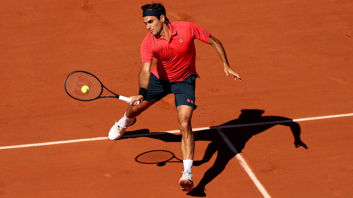 Roger Federer, en su debut en Roland Garros 2021 (Getty)