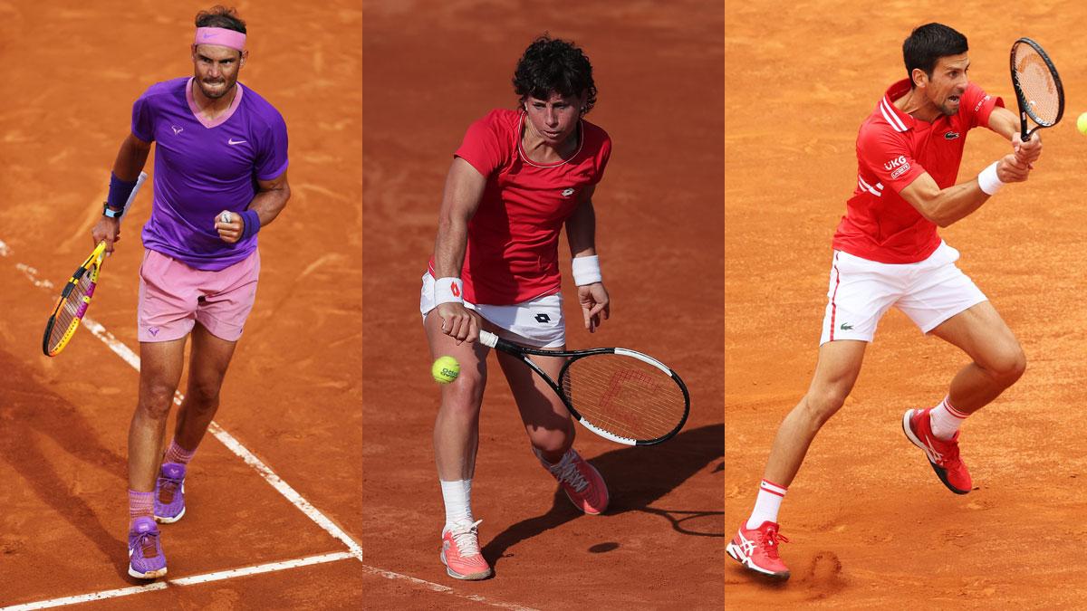 Nadal, Carla Suárez y Djokovic debutan este martes 1 de junio en Roland Garros 2021 (Getty)