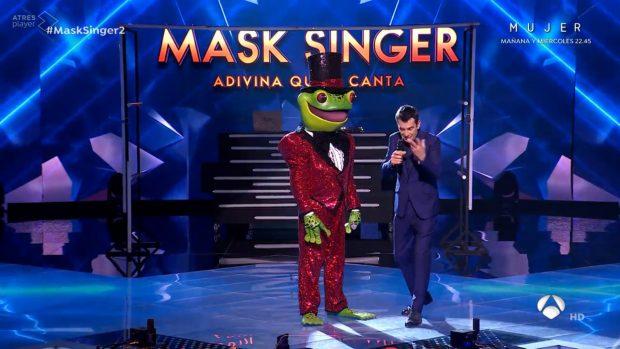 Rana en el plató de Mask Singer