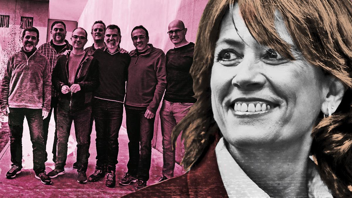 Dolores Delgado y los presos del 'procés'.