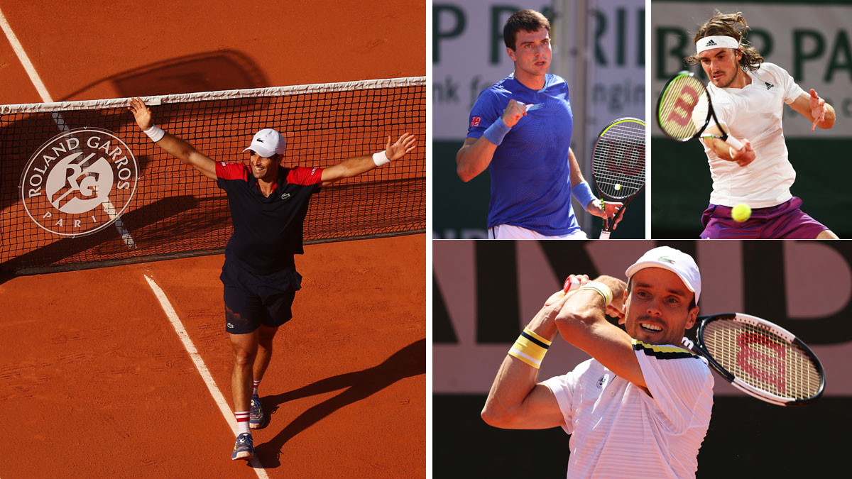 Pablo Andújar, Pedro Martínez, Stefanos Tsitsipas y Roberto Bautista juegan en Roland Garros este miércoles 2 de junio (Getty)