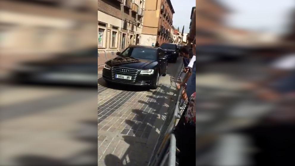 Abucheos a Pedro Sánchez en Alcalá de Henares.