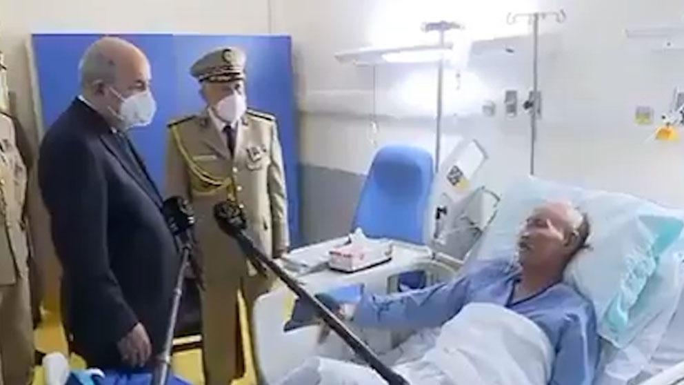 Brahim Ghali en el hospital argelino.