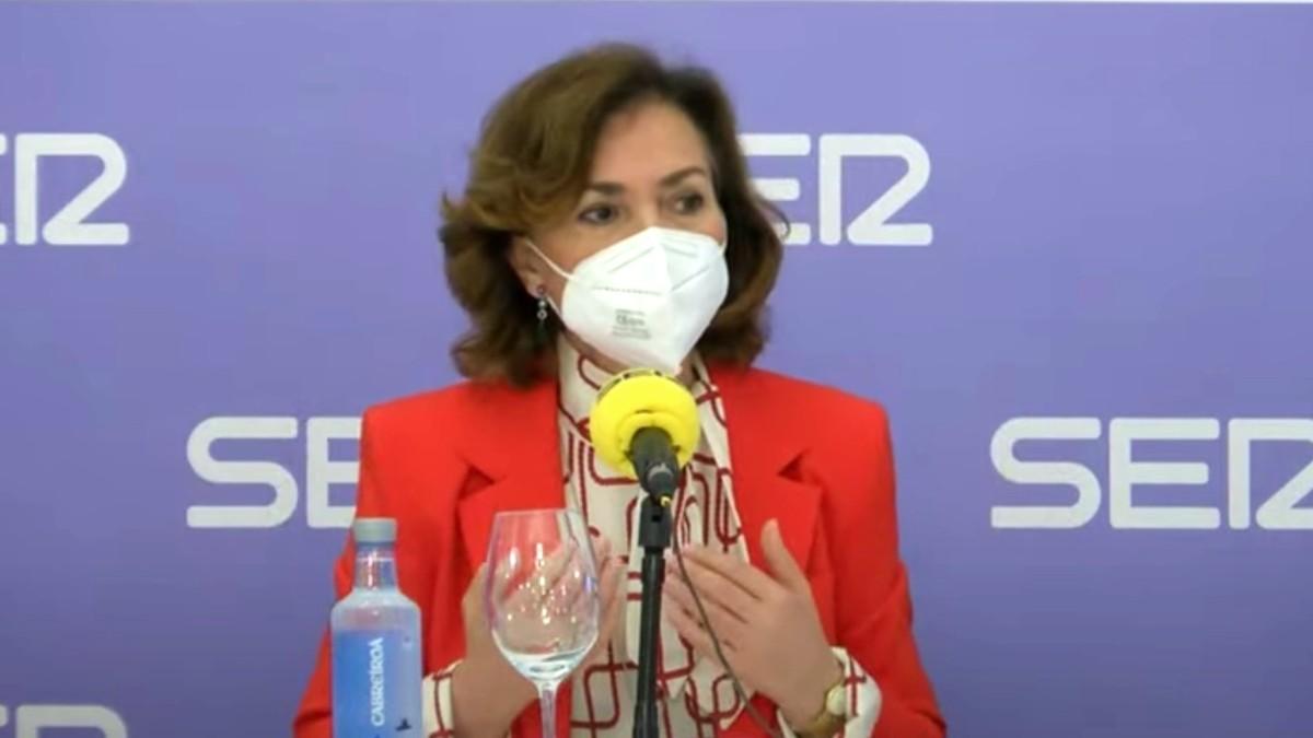La vicepresidenta primera del Gobierno, Carmen Calvo. (Foto: Europa Press)