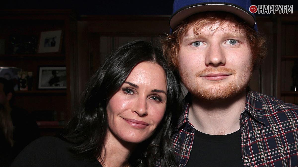 Ed Sheeran y Courtney Cox