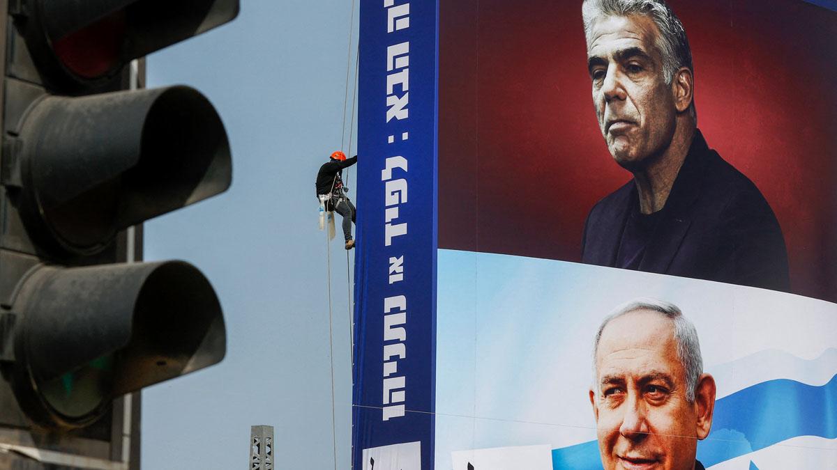 Yair Lapid y Benjamin Netanyahu (Foto: AFP)